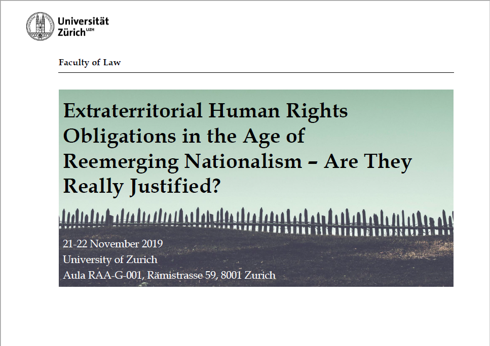 Extraterritorial Human Rights Obligations